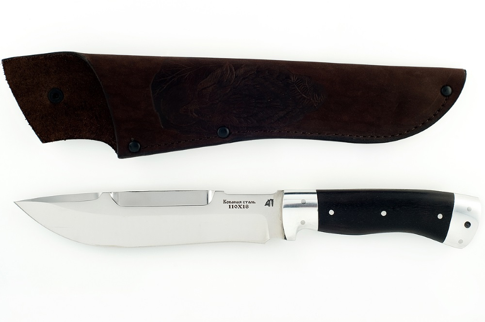Нож Бизон-6 сталь 110х18 цельнометаллический (взрезка)