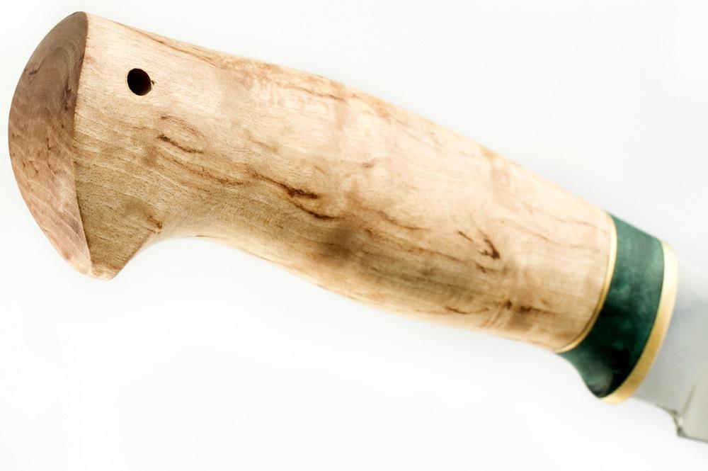 Нож Акула сталь 110х18 карельская берёза