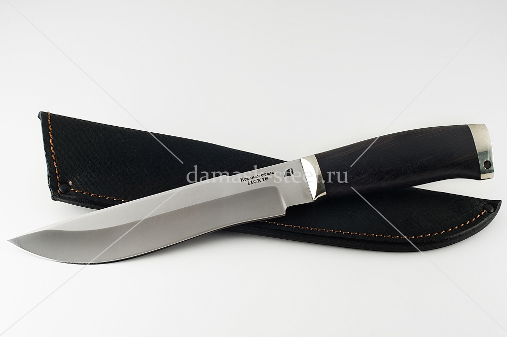 Нож Бизон-7 кованая сталь 110х18 дерево граб