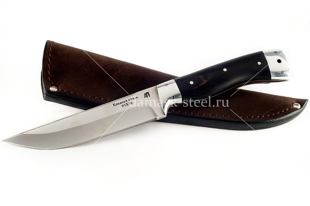 Нож Волк-1 кованая сталь 95х18 граб цельнометаллический