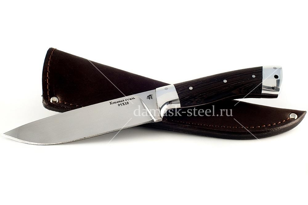 Нож Варан-6 кованая сталь 95х18 венге цельнометаллический