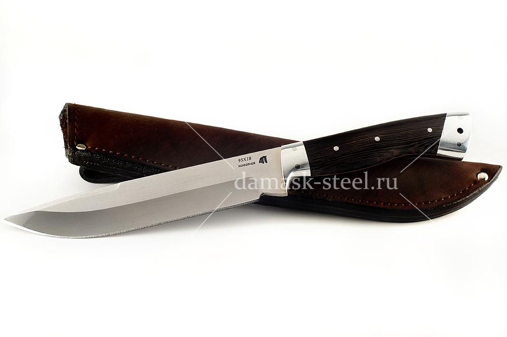 Нож Скорпион-8 кованая сталь 95х18 венге цельнометаллический