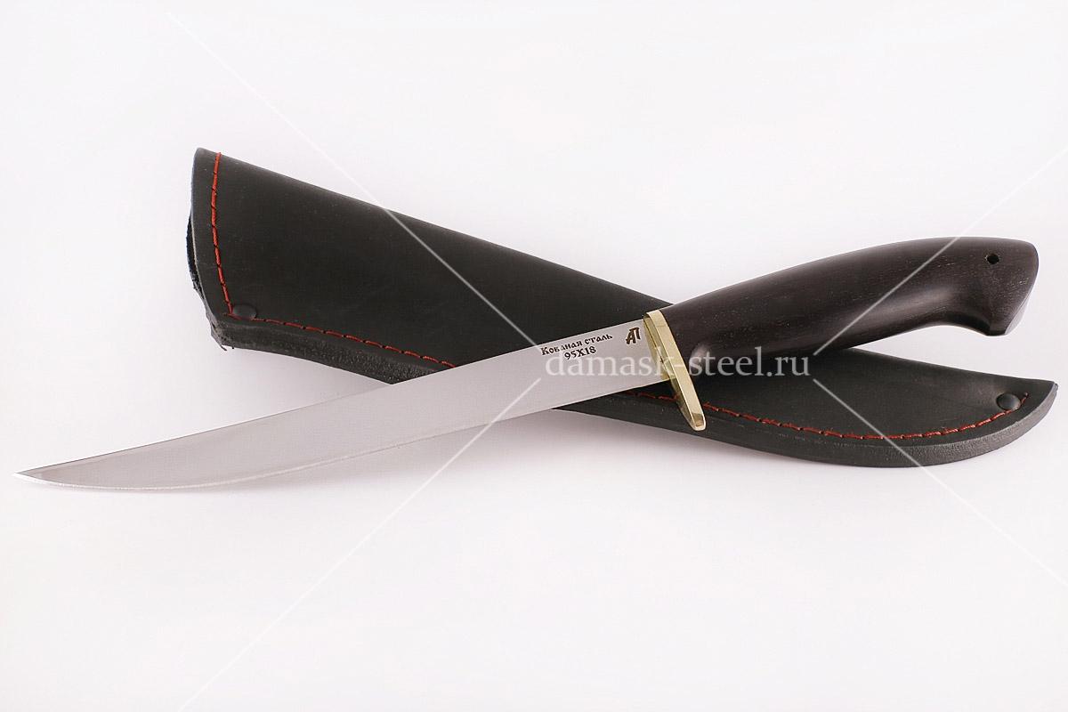 Нож Филейный-1 кованая сталь 95х18 граб (большой)