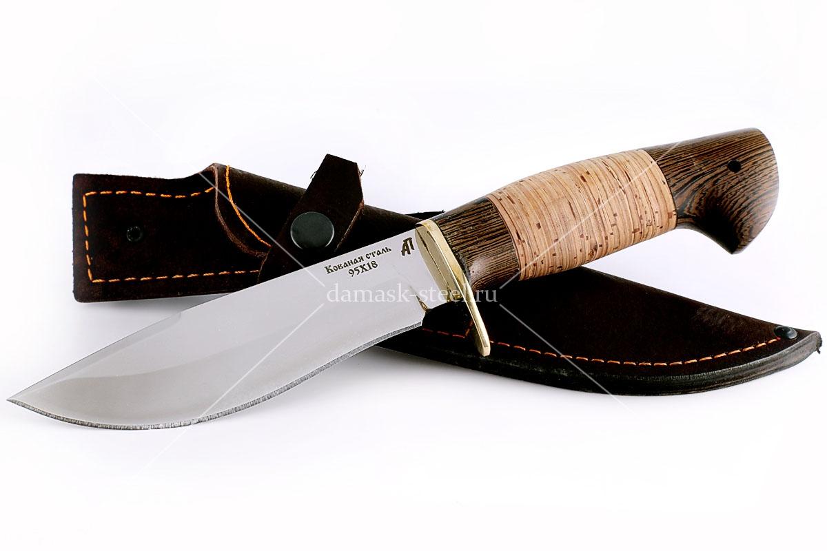 Нож Олень-1 кованая сталь 95х18 венге и береста