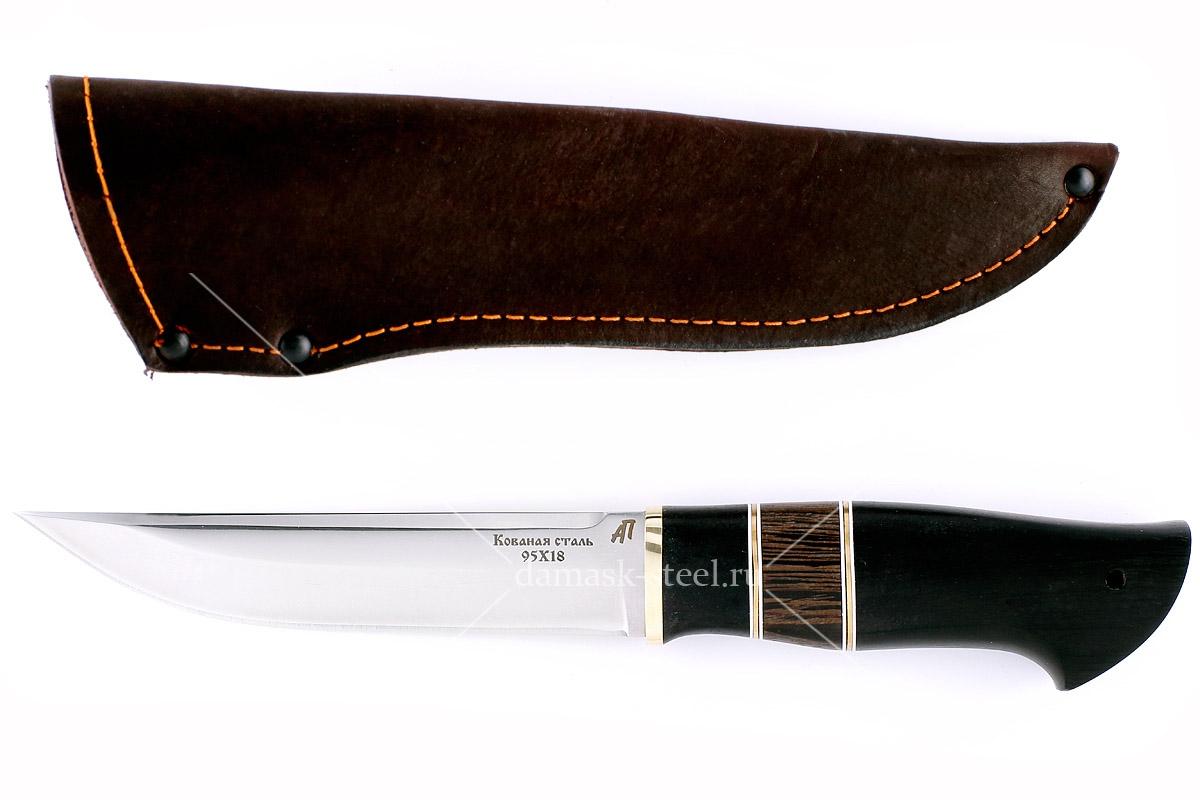 Нож Волк-3 кованая сталь 95х18 граб и венге