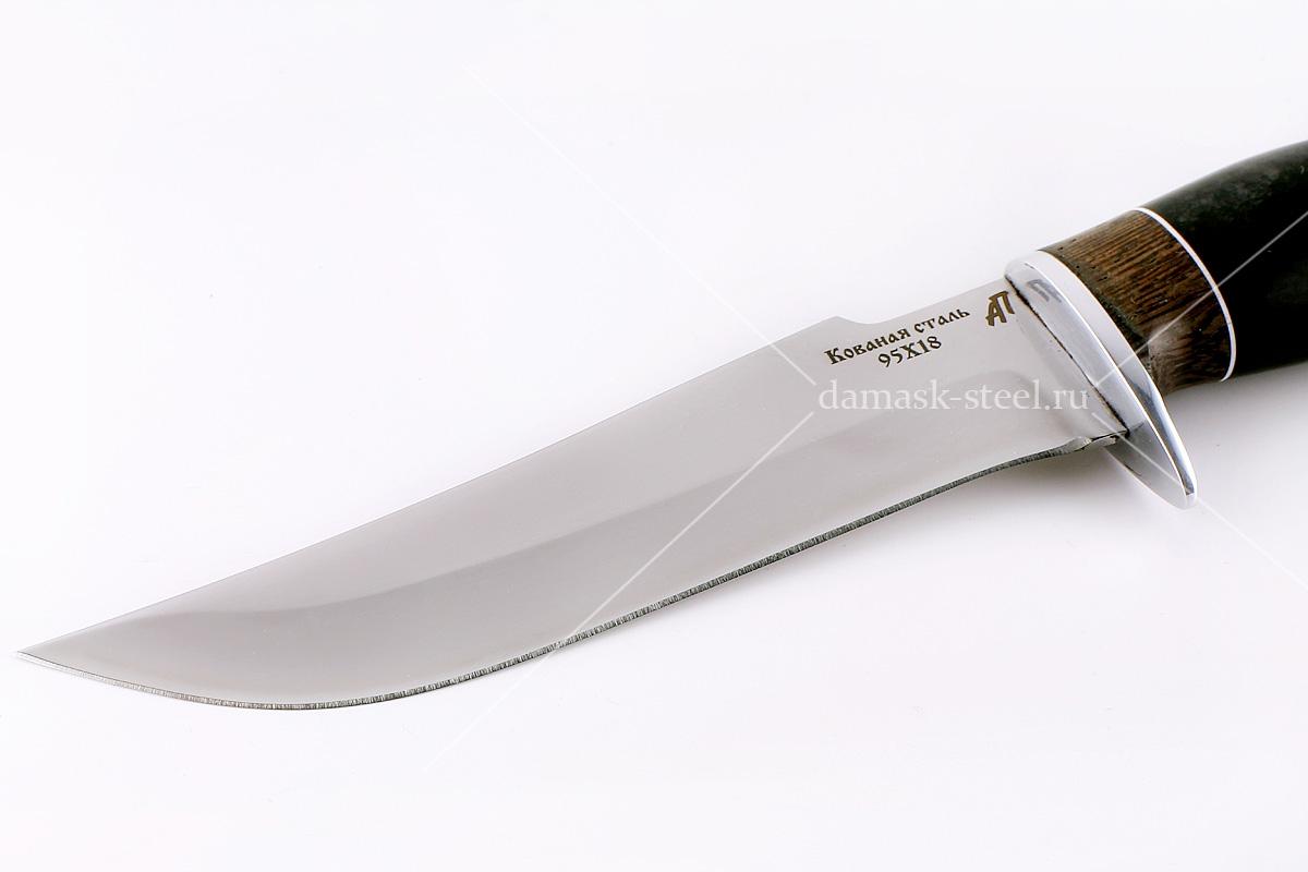 Нож Шершень-1 кованая сталь 95х18 венге и граб