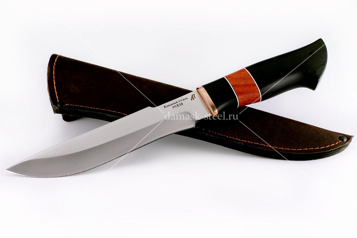 Нож Бизон-10 кованая сталь 95х18 граб и падук