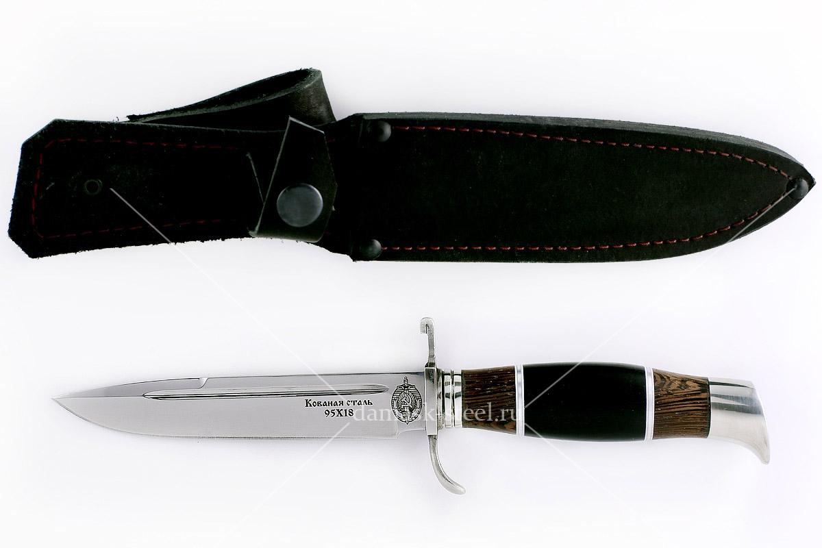 Нож финка НКВД-1 кованая сталь 95х18 венге и граб