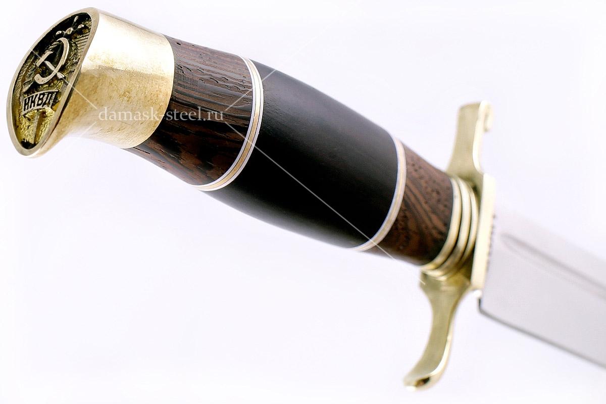 Нож финка НКВД-2 кованая сталь 95х18 венге и граб