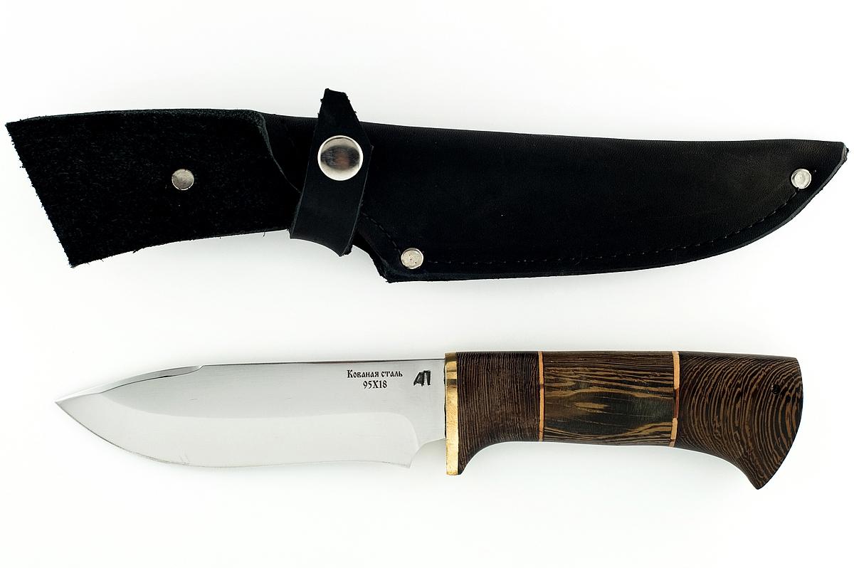 Нож Зубр кованая сталь 95х18 венге и береста