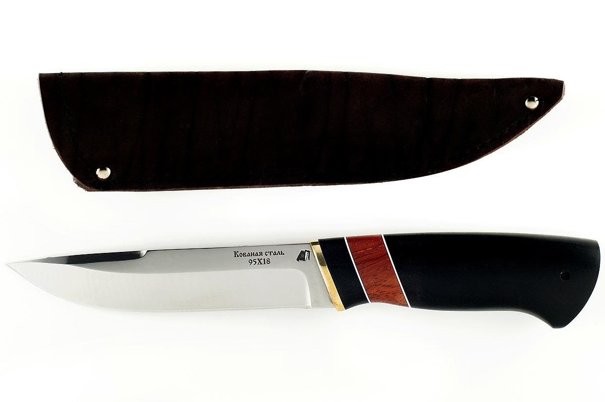 Нож Варан-3 кованая сталь 95х18 граб и карельская берёза