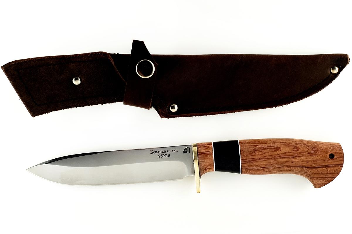 Нож Ворон кованая сталь 95х18 бубинга и граб