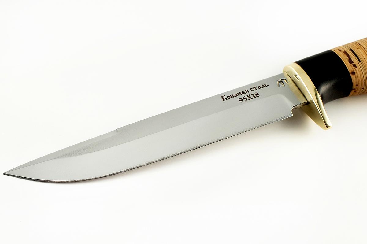 Нож НКВД-3 кованая сталь 95х18 граб и береста