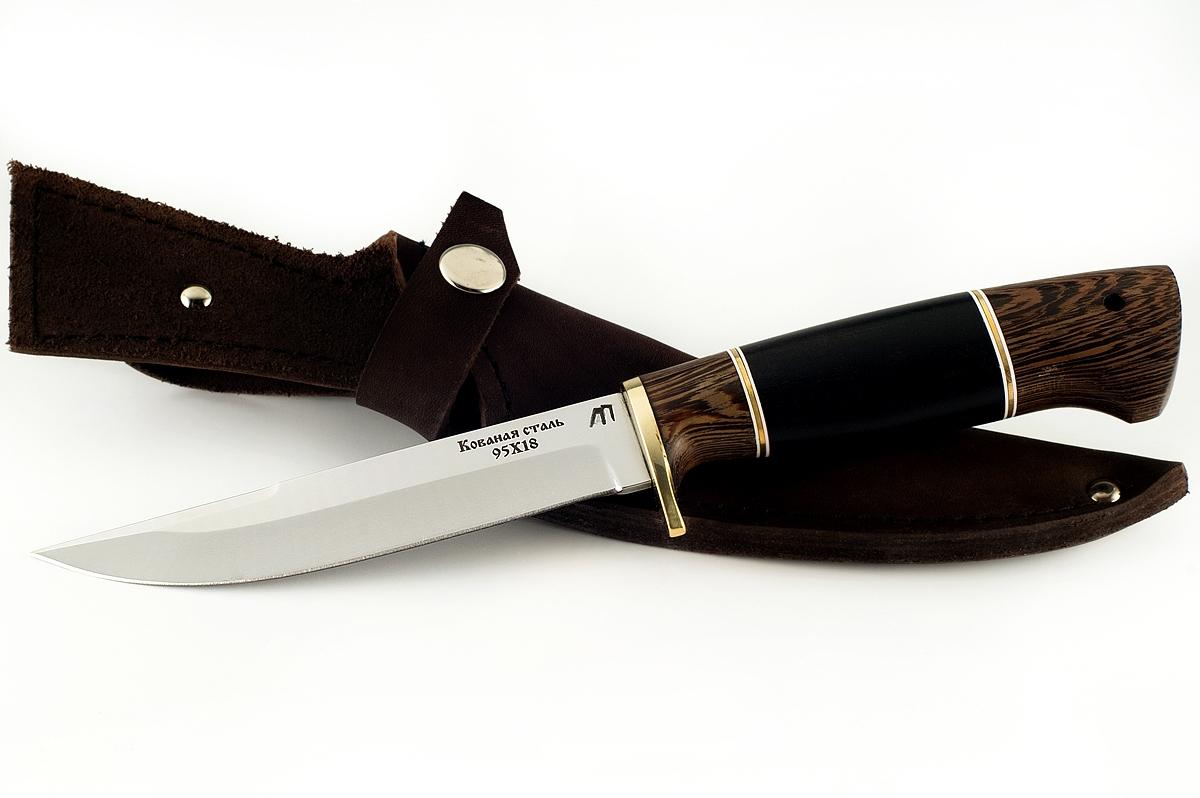 Нож Хорёк-5 кованая сталь 95х18 венге и граб