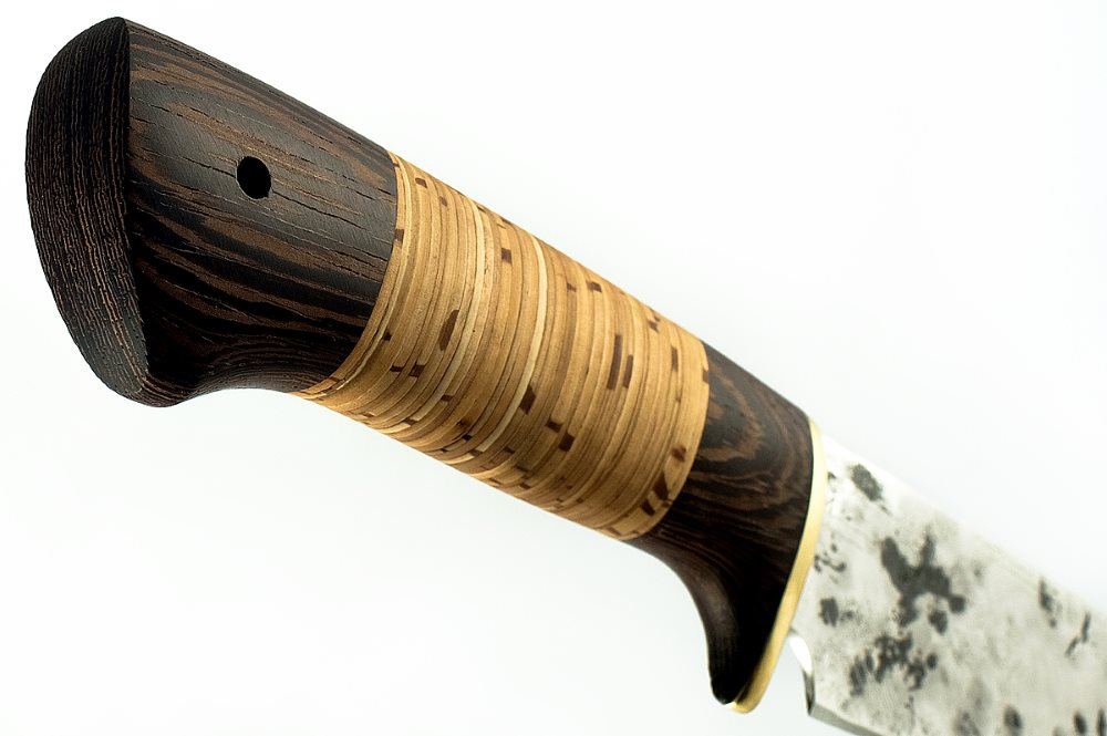 Нож Зубр кованая сталь 9хс венге