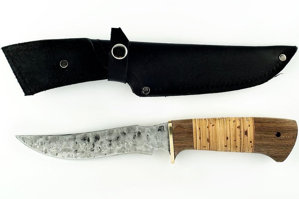 Нож Осётр кованая сталь 9хс сапеле