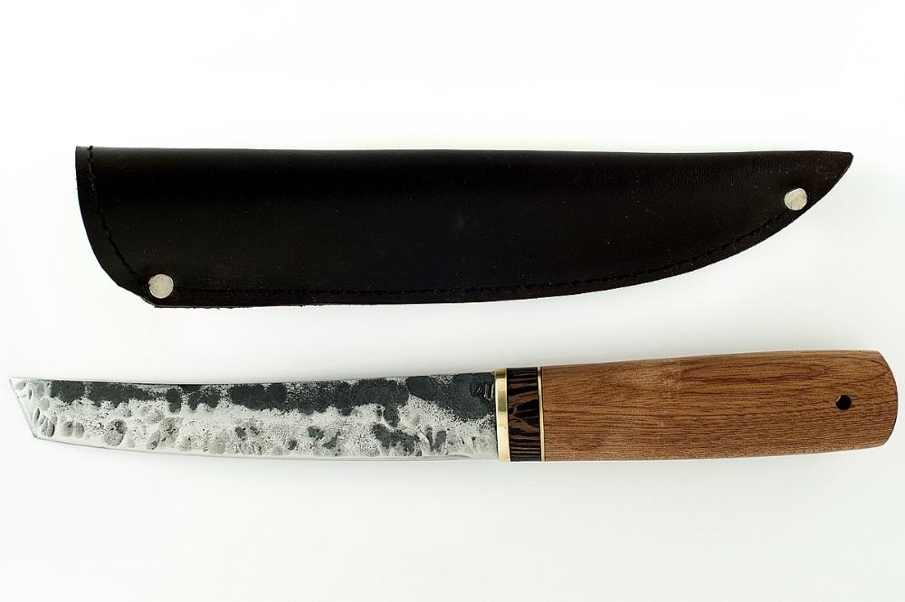 Нож Самурай кованая сталь 9хс сапеле