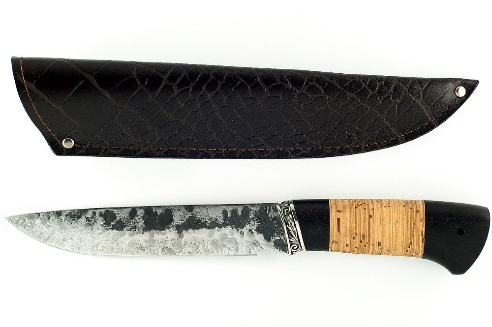Нож Скорпион кованая сталь 9хс граб