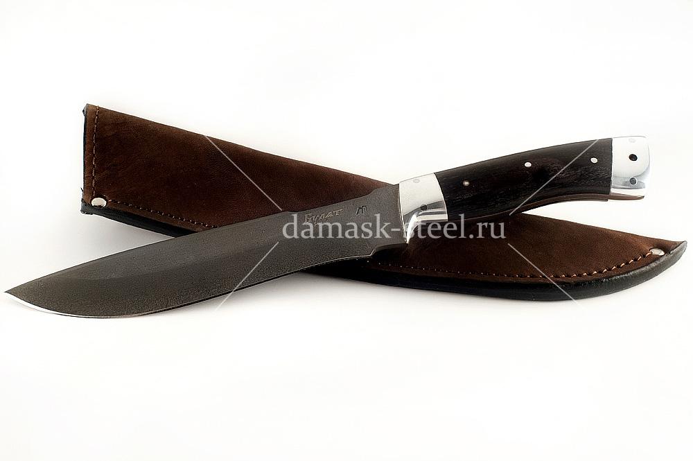 Нож Бизон-5 сталь литой булат граб цельнометаллический