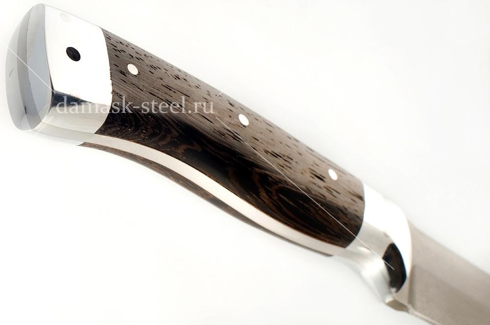 Нож Волк-1 сталь литой булат цельнометаллический