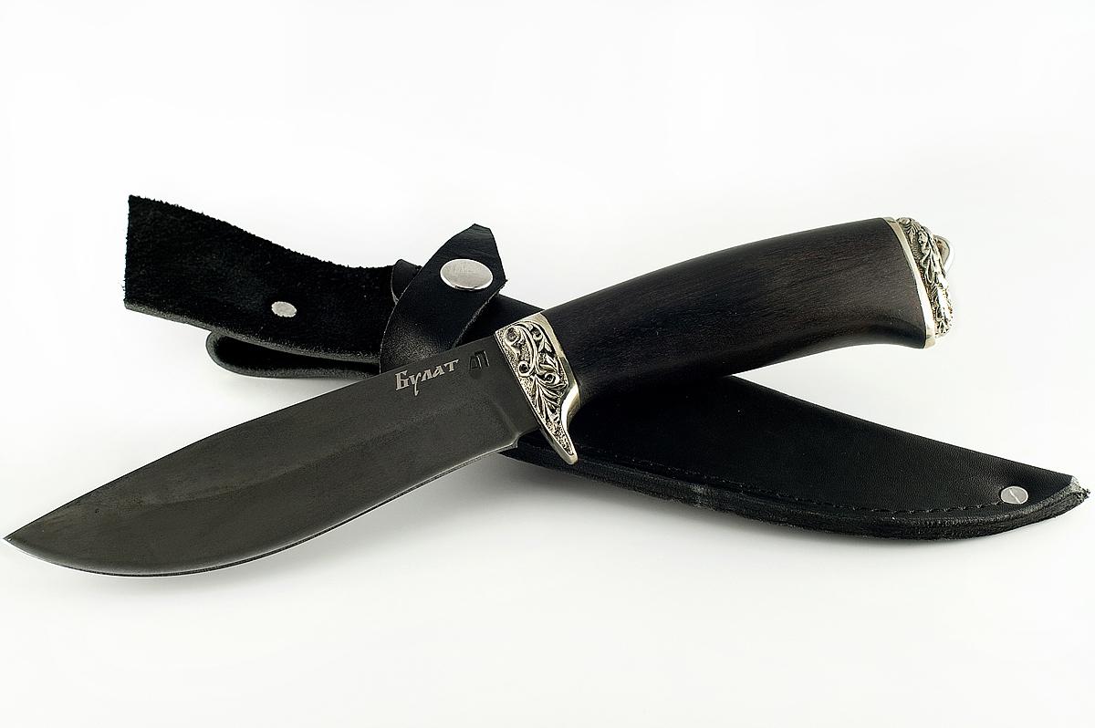 Нож Олень-1 сталь литой булат граб