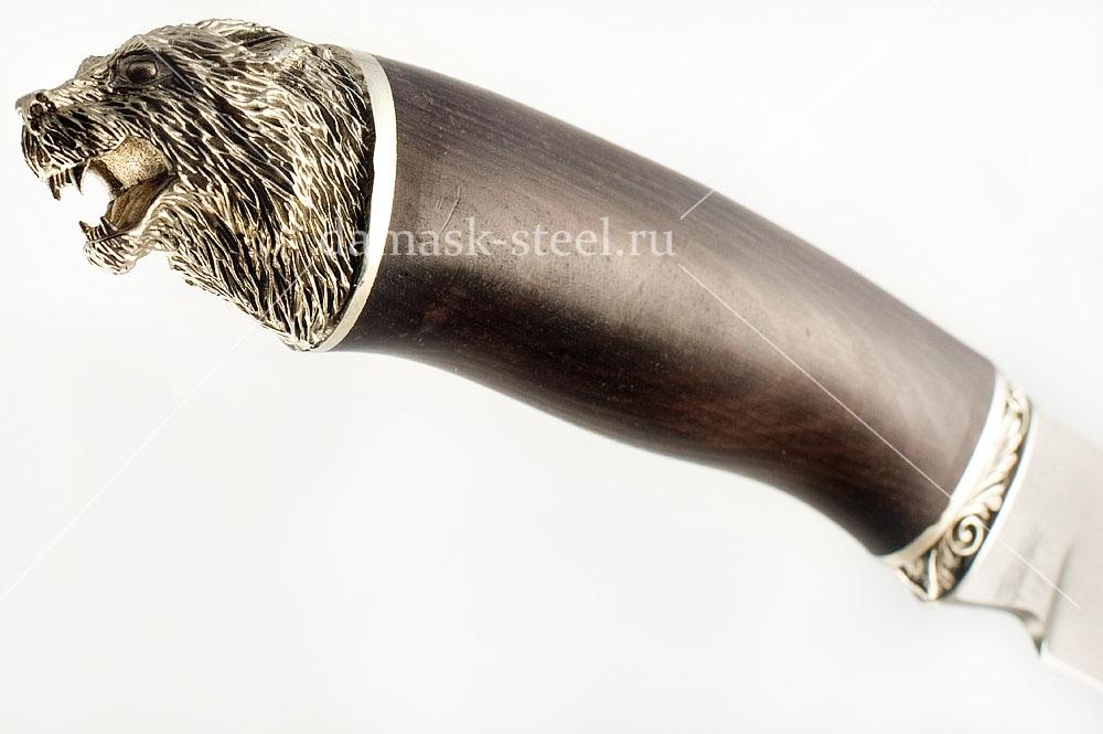 Нож Скорпион-5 сталь литой булат граб (голова)