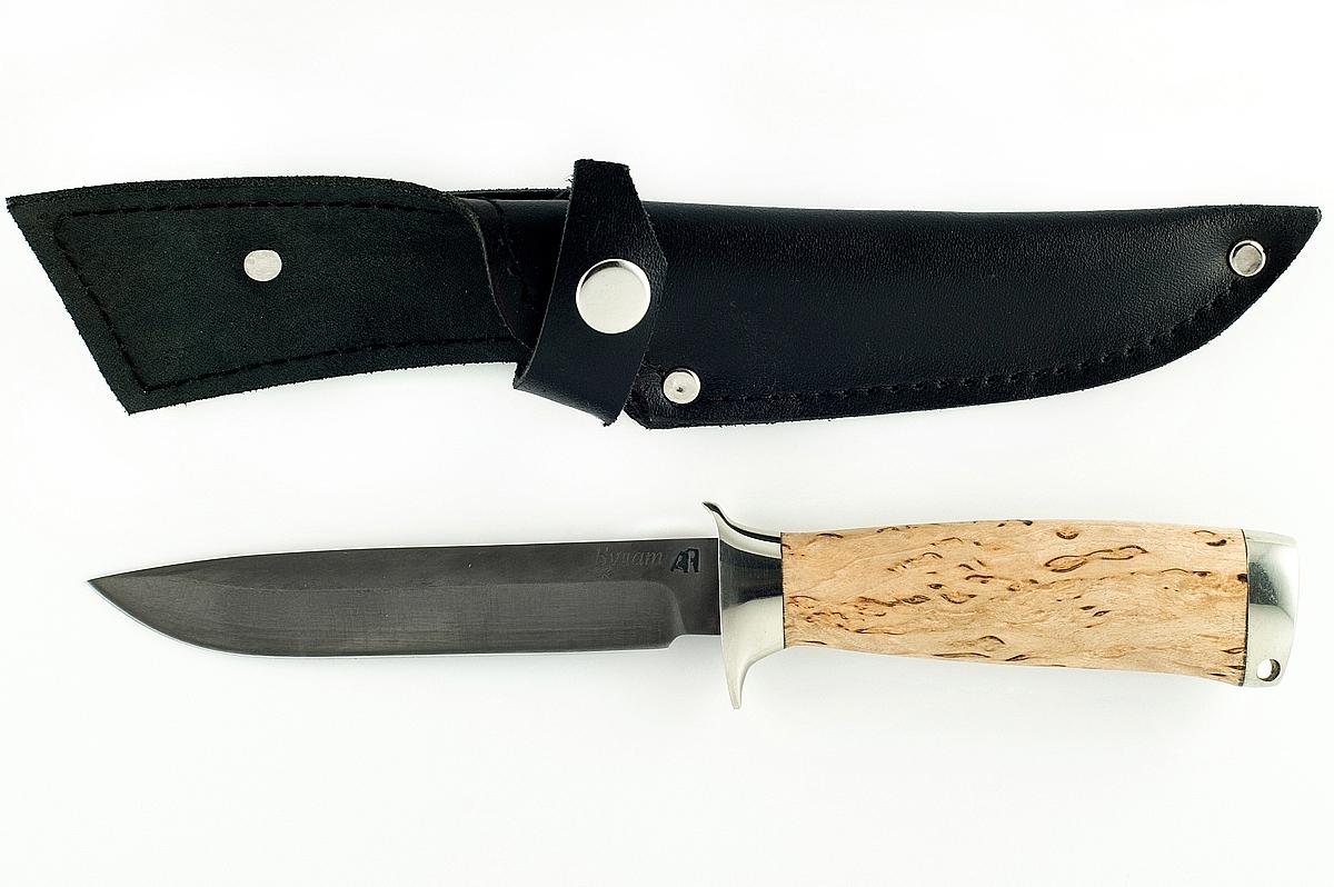Нож НКВД-3 сталь литой булат карельская берёза