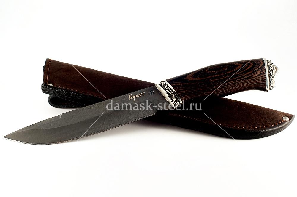 Нож Скорпион-10 сталь литой булат венге