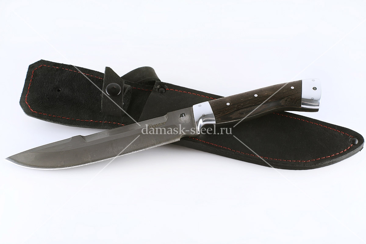 Нож Скорпион-12 сталь литой булат цельнометаллический (взрезка)