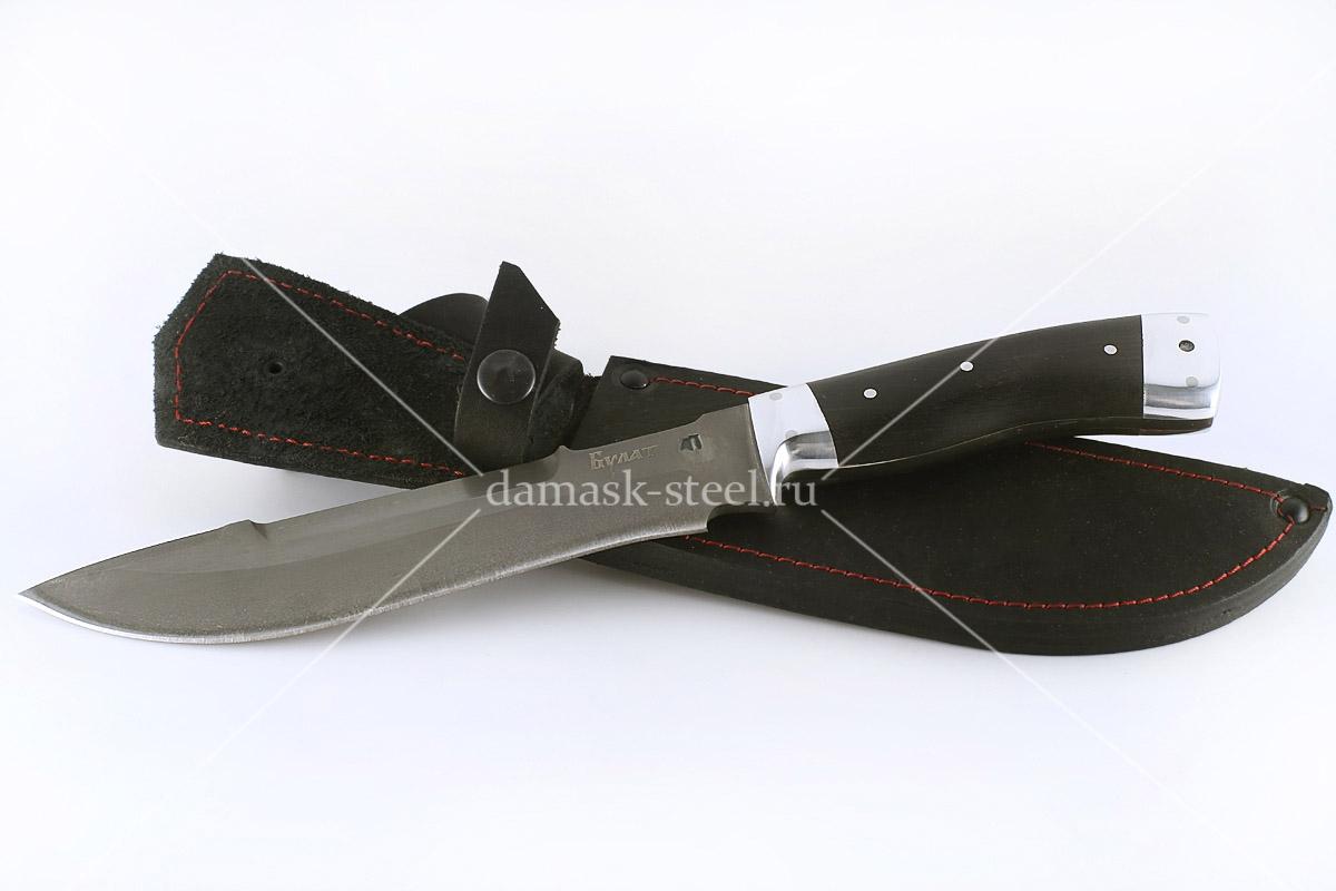 Нож Бизон-11 сталь литой булат цельнометаллический (взрезка)
