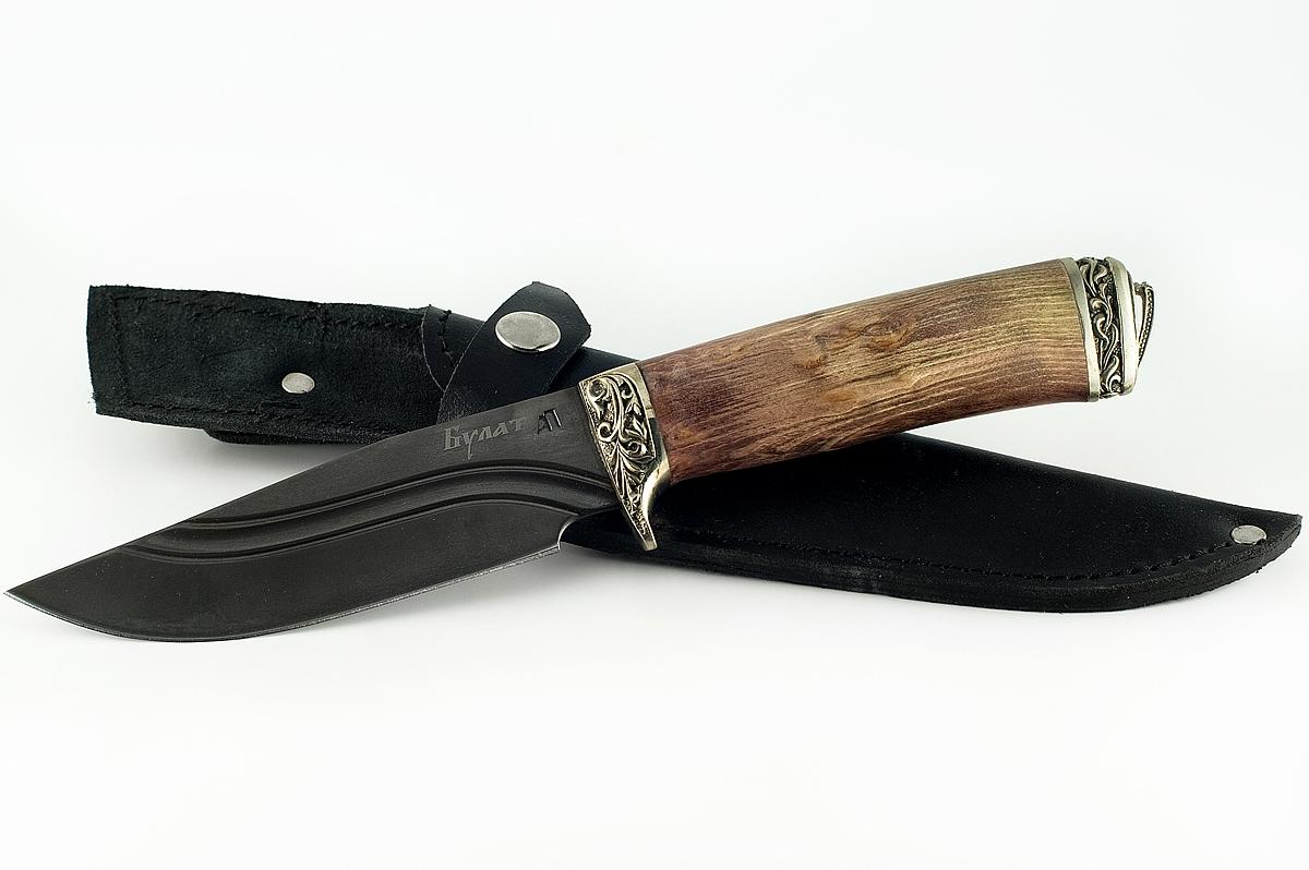 Нож Барсук-4 сталь литой булат карельская берёза