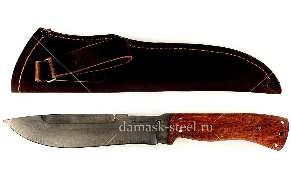 Нож Бизон-16 сталь литой булат цельнометаллический (взрезка)