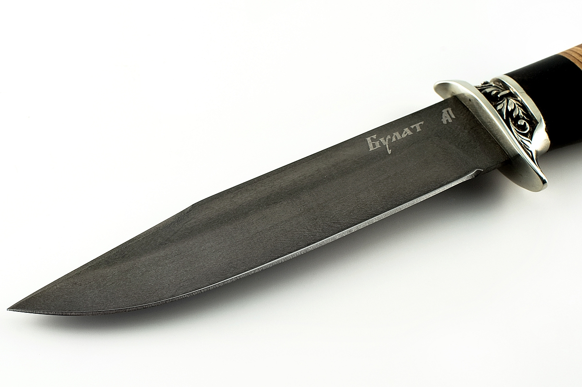 Нож Оса-2 сталь литой булат граб и береста