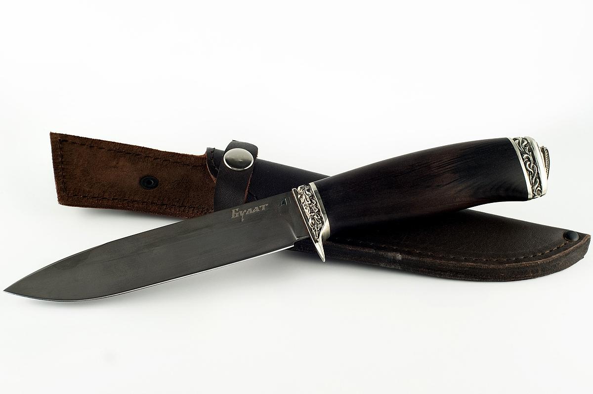 Нож Ворон-4 сталь литой булат граб