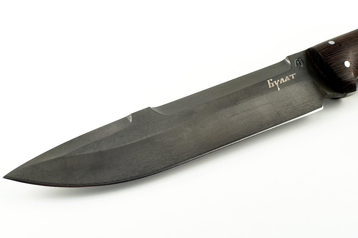 Нож Скорпион-13 сталь литой булат цельнометаллический (взрезка)
