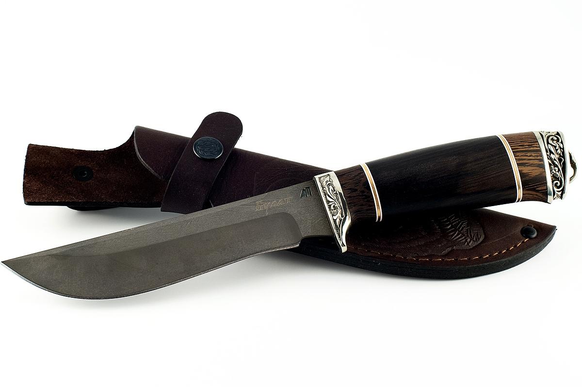 Нож Ястреб сталь литой булат венге и граб