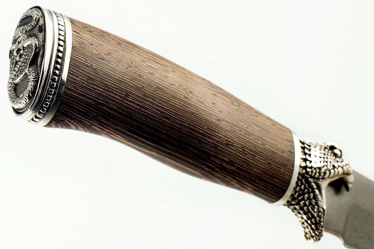 Нож Акула-7 сталь литой булат венге и граб