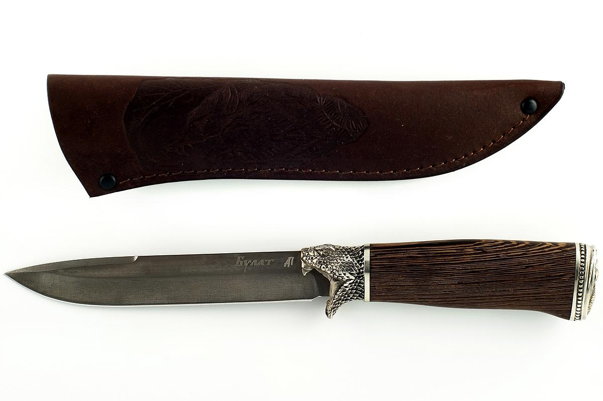 Нож Крот-2 сталь литой булат венге