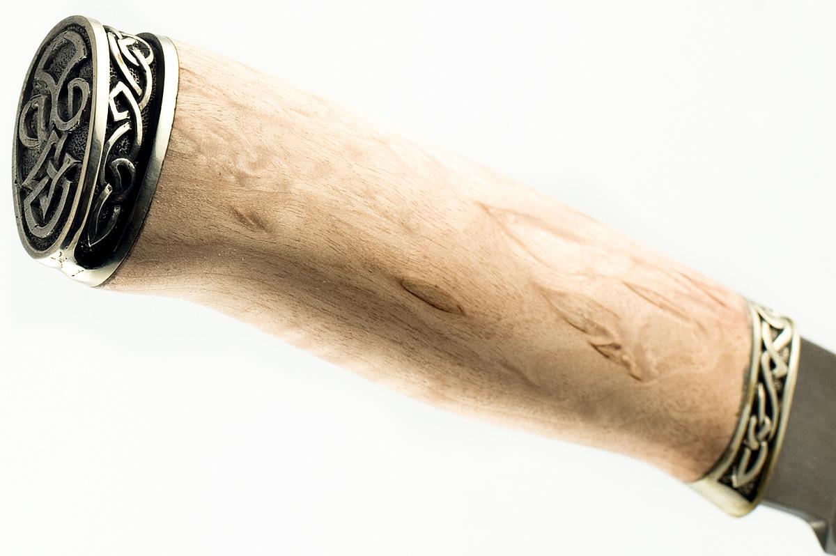 Нож Акула-8 сталь литой булат карельская берёза