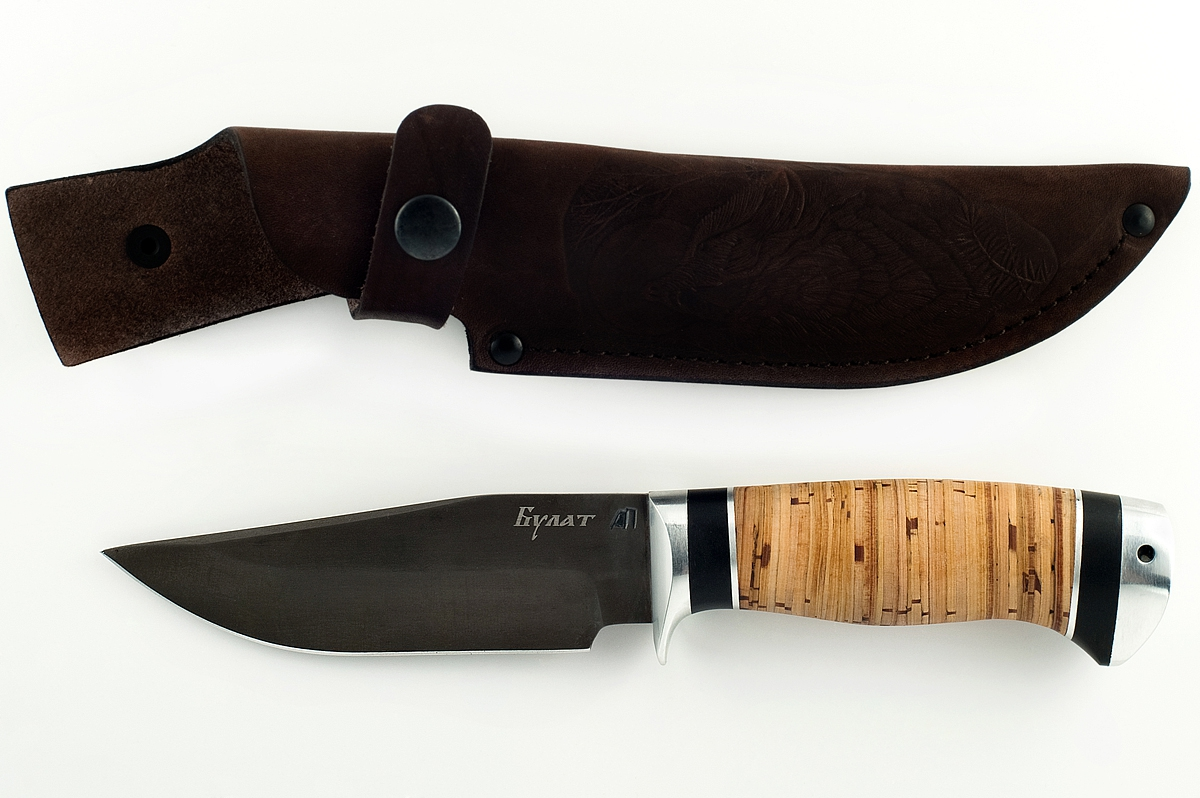 Нож Барсук-7 сталь литой булат  береста