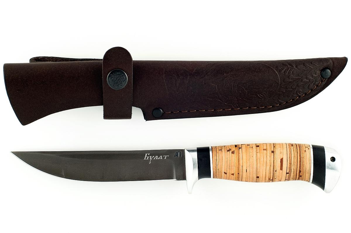Нож Хорёк-7 сталь литой булат береста