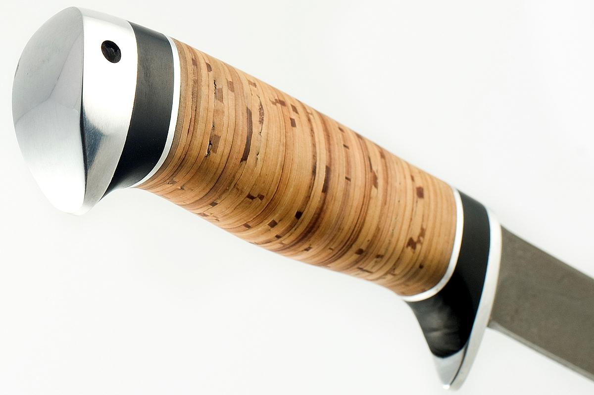 Нож Хорёк-9 сталь литой булат береста