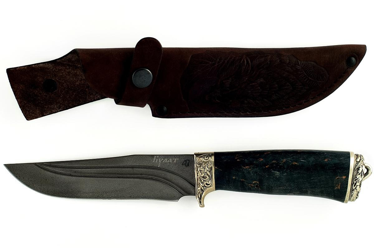 Нож Егерь-11 сталь литой булат карельская берёза