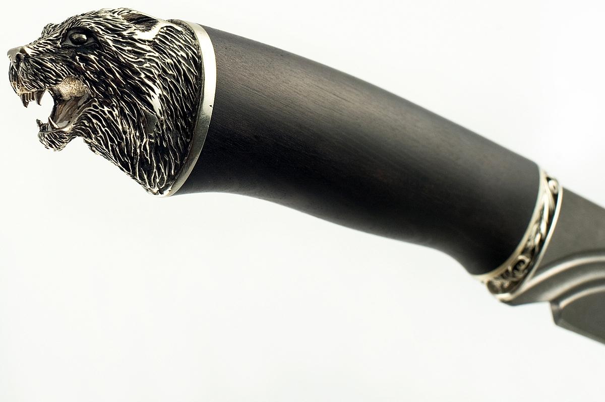Нож Скорпион-24 сталь литой булат граб