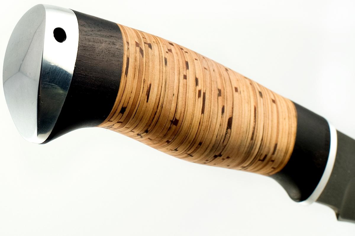 Нож Акула-9 сталь литой булат граб и береста