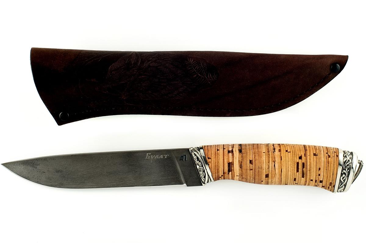 Нож Варан-7 сталь литой булат береста