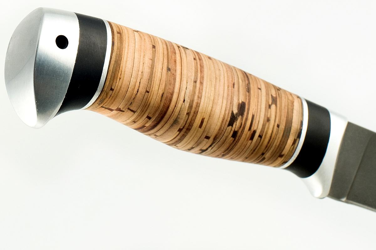 Нож Ласка-9 сталь литой булат граб и береста