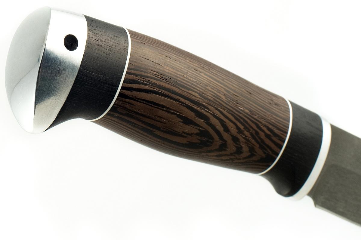 Нож Норка сталь литой булат граб и венге