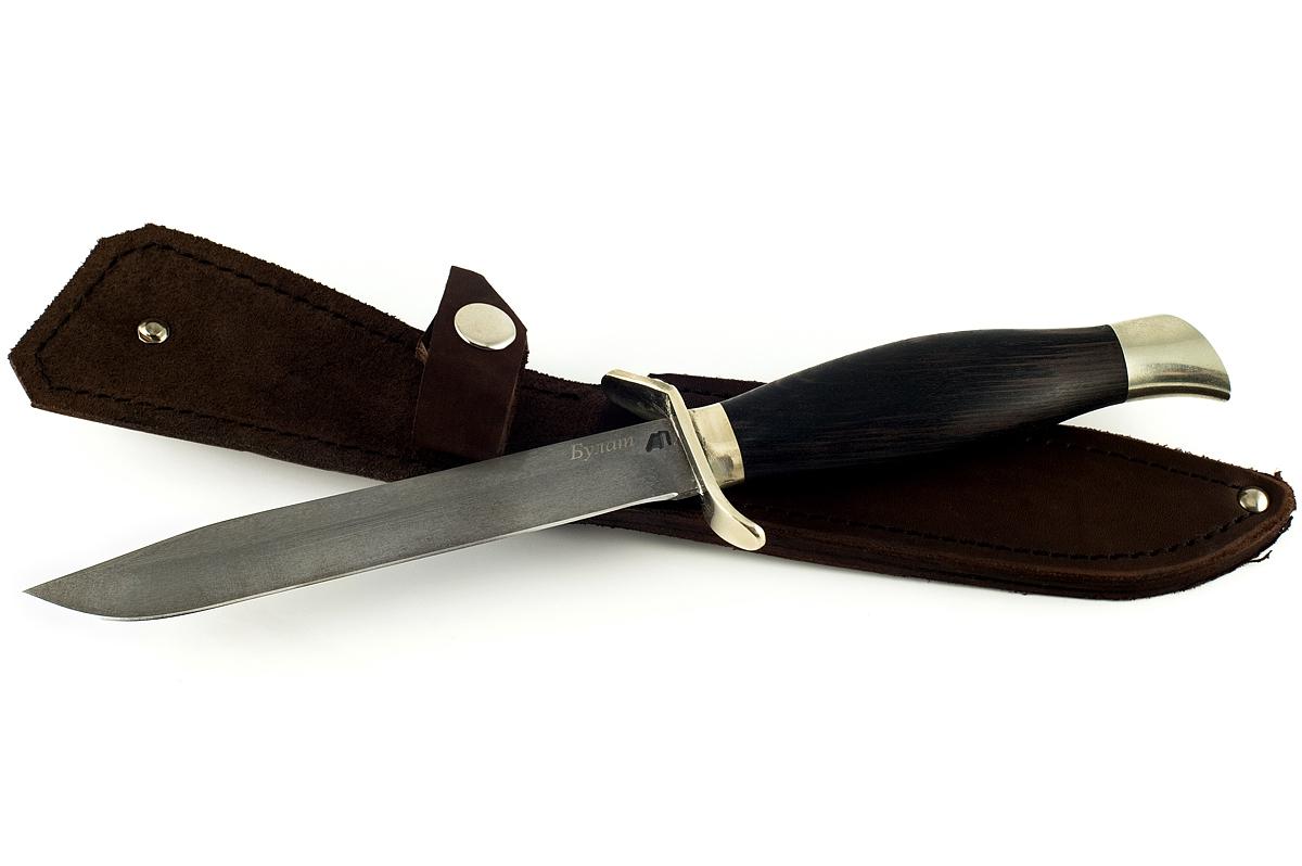Нож НР-40-3 сталь литой булат граб