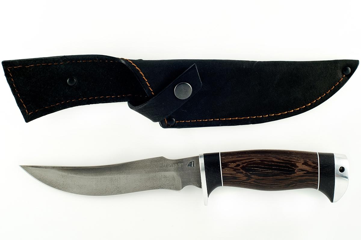 Нож Осётр сталь литой булат граб и венге